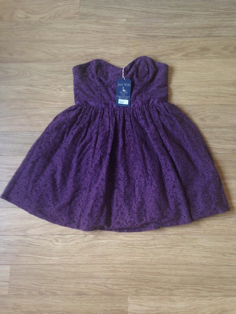 NEW Jack Wills Strapless Dress Size 14