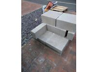 26 concrete blocks solid