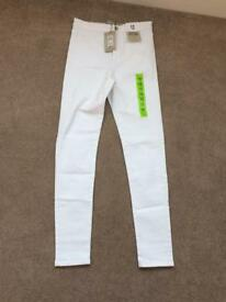 Super high waisted skinny jeans size 12 BNWT £5.00