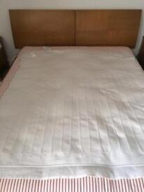 REDUCED Oak king size bed frame and mattress