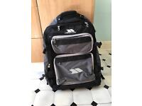 Soft suitcase backpack with wheels large