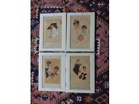 """Art Deco pochoirs from """"Les Chapeaux du tres Parisien"""""""
