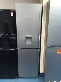 New Ex-Display Hotpoint FFLAA58WDG 55cm Frost Free Fridge Freezer Silver £179