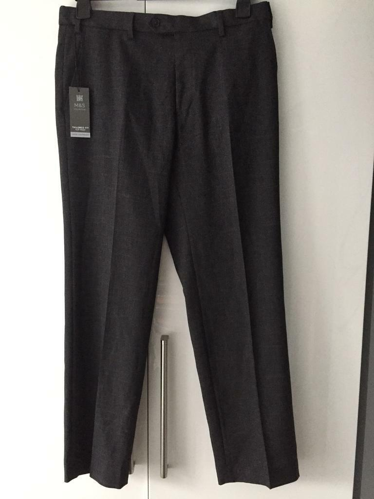 """Men's Trousers **M&S~New With Tags~34""""~Cost £25**"""