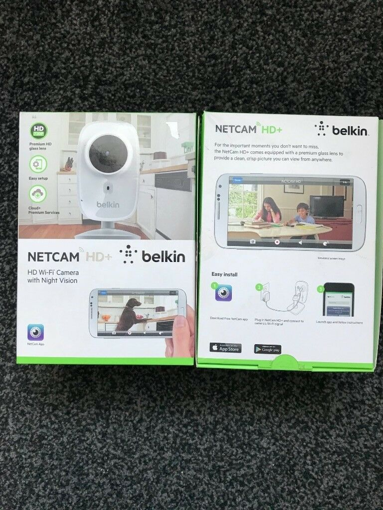 Brand New Belkin WiFi Netcam HD IP Camera with Night Vision,Motion Detection, HD Video,Push to Talk