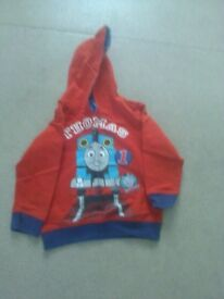George red/ blue Thomas the tank motif pull on hoody age 3-4yrs