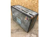 Vintage Metal luggage trunk