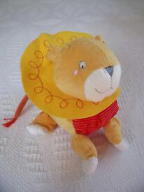 Un-used, but stored Ikea Barnslig Lejon child's lion soft plush toy. Age: 0+. Machine washable. �2.