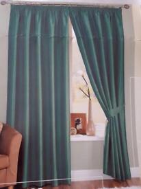 2 x Jade/Teal Curtains