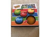 New set of 4 quiz buzzers with novelty noise and lights