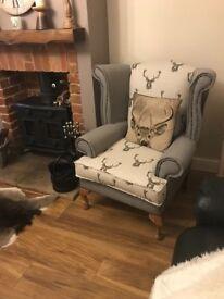 Firesidechair/ high seat chair