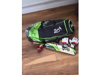 Children's Cricket Bat, bag, gloves and balls