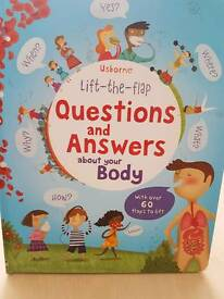 Usborne lift the flap question and answes about your body