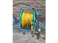 Hozelock Hosepipe and reel approx 24metres