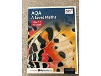 AQA A Level Maths Year 1/ AS Level Textbook, used for sale  Whinmoor, West Yorkshire