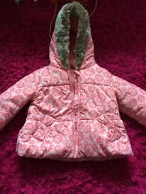 Girls coat and mittens, 6 - 9 months