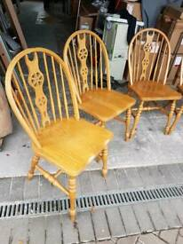 6 Farm house chairs