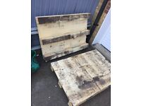 Two well built wooden pallets