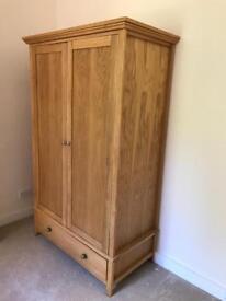 Beautiful oak double wardrobe