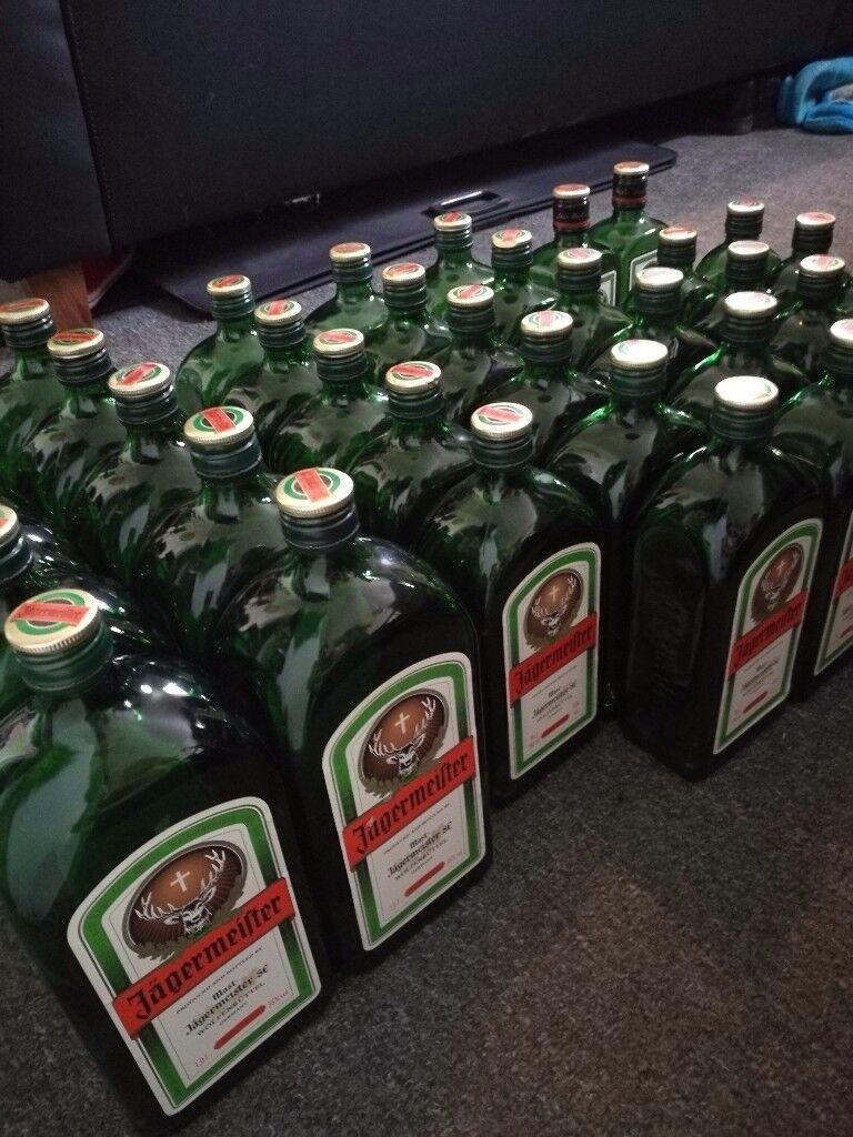 40 EMPTY Jager / Jagermeister / Jägermeister bottles - for DIY / bar / pub / display / vase