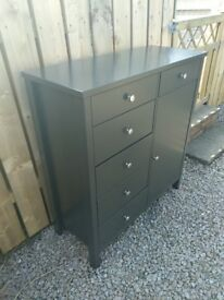 Chest of drawers bedroom unit with cabinet storage great condition