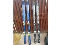 2 sets of blizzard skis for sale