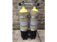 Faber 7 Litre 232 Bar Twinset Cylinders