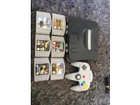 Nintendo 64 with 6 games
