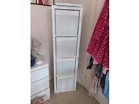 White IKEA box unit only 6 months old with 4 boxes