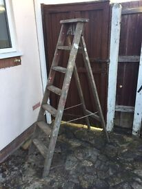 Wooden ladder in good condition.
