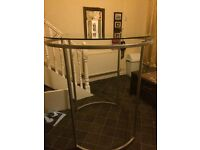 High stylish circular glass table/clothes hAnger REDUCED PRICE