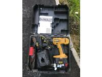 Dewalt drill with 2 batteries and charger