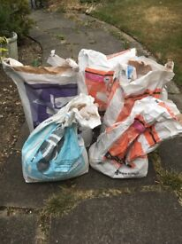 Bags of plaster and bonding compound. Free to anyone who wants them.