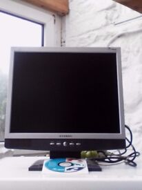 """15"""" Hyundai monitor, perfect working order with leads"""
