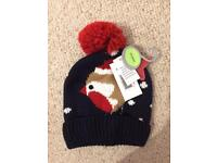 Robin Winter Hat Age 3-6 Years Brand New