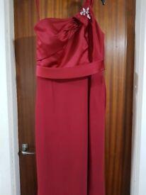 Stunning chiffon and satin dress 16/18