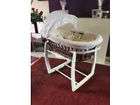 Mamas & Papas Moses Basket & Rocking Stand
