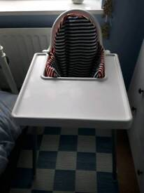 Ikea high chair with support