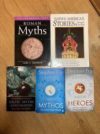 Collection of Mythology Books