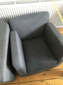 Super Comfy Charcoal Sofa & Chair Set - £100 O.N.O - STILL GOOD TO GO