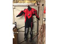 Northern diver woman's dry suit and under suit