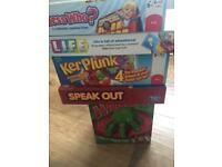 Board game bundle speak out guess who kerplunk creepy hand game of life
