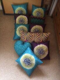 Beautiful selection of debenhams colourful cushions