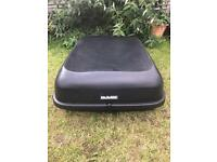 Halfords Roof Box - not roof bars - motoring holidays