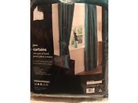 Brand new faux silk curtains 167x182 cm
