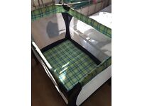 Navy Blue Travel Cot
