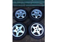 Genuine Honda Civic 1999 set of alloy wheels with good tyres