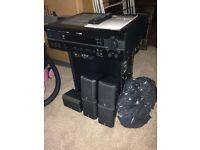 Yamaha av setup in speaker set