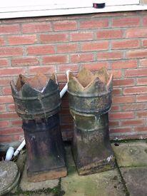Crown Chimney pots (pair)