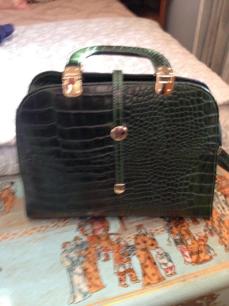 Gorgeous Green Leather Handbag